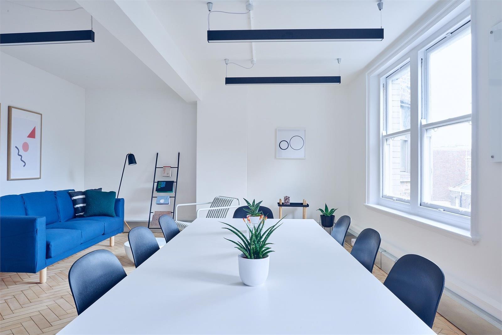 Vårt nya konferensrum, det blåa rummet