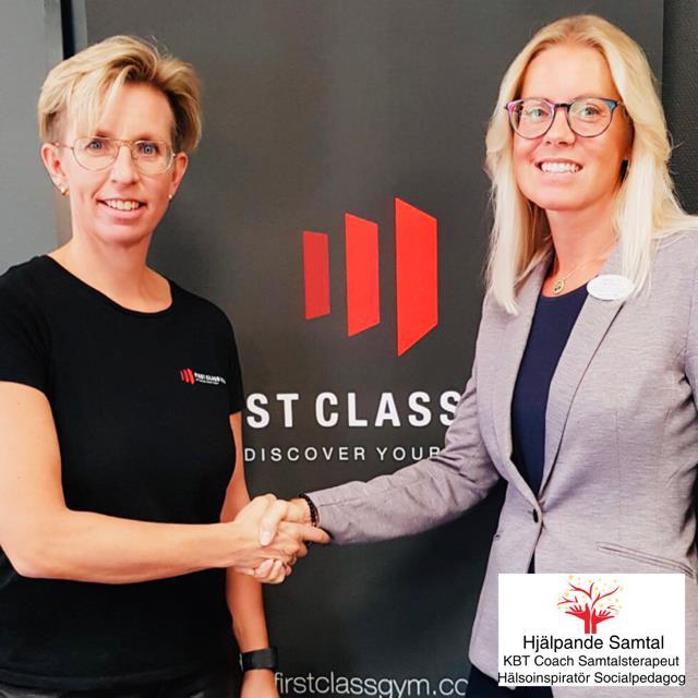 Samarbetspartners First Class Gym och Hjälpande Samtal