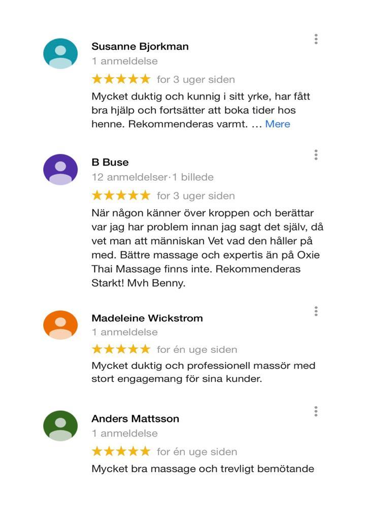 Google och Facebook rekommendationer